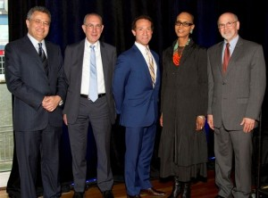Henry Freedman with the 2012 Honorees
